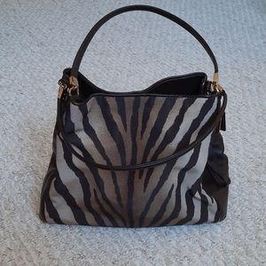 Vintage Coach Edie Animal Print Shoulder Bag